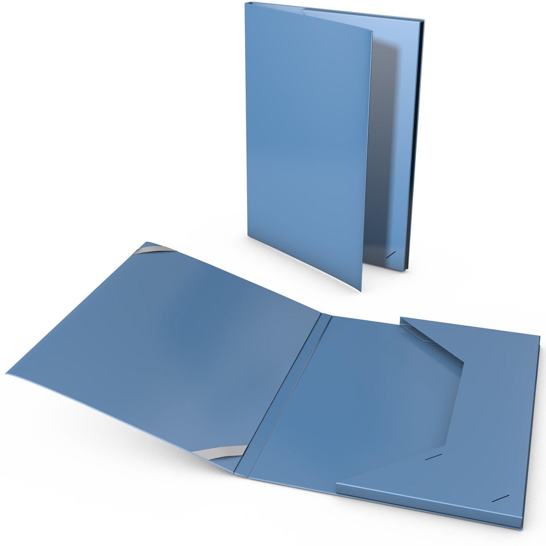Präsentationsmappe mit geschlossener Tasche in Metalloptik