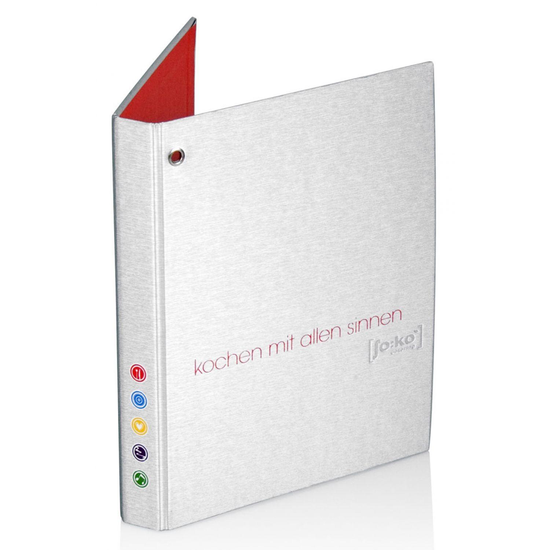 Ringbücher mit Stoff - Metalloptik