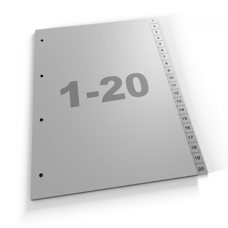 Standard Register 1-20, A4, grau oder weiß, Polypropylen (420 Za Eu)
