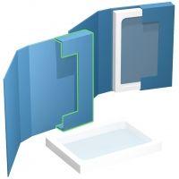 hochwertige Verpackungsbox mit Konturstanzung für Muster