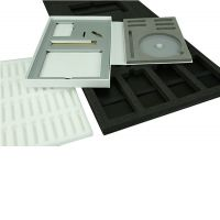 Schaum-oder Wellpappeinlagen für Boxen und Verpackungen