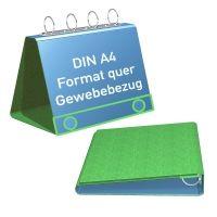 Tisch Flipchart A4 quer in Gewebefolie mit Metalloptik
