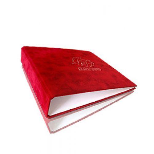 Elegant und stilsicher: Ordner mit rotem Samt