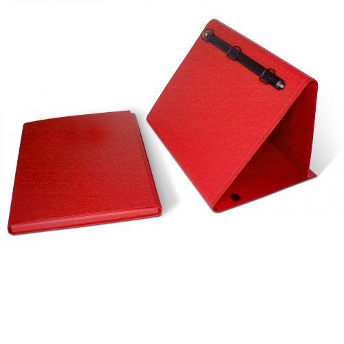 Kombi-Präsentationsaufsteller A4 quer, mit Archivbox für Zusatzinhalt