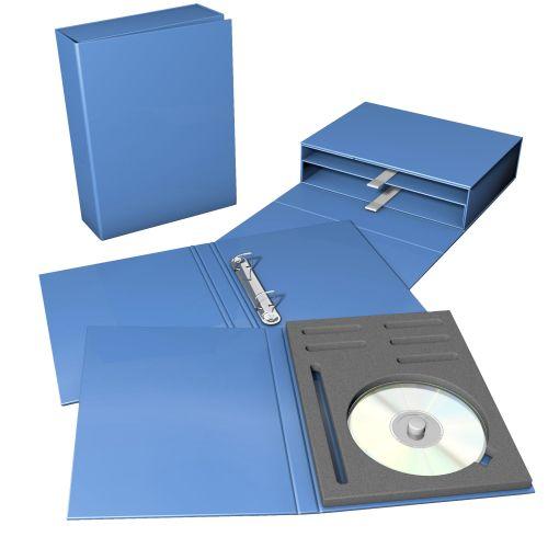 Schubladenbox mit 2 Produktfächern, Ordner und Tablo (Verpackungsbox)
