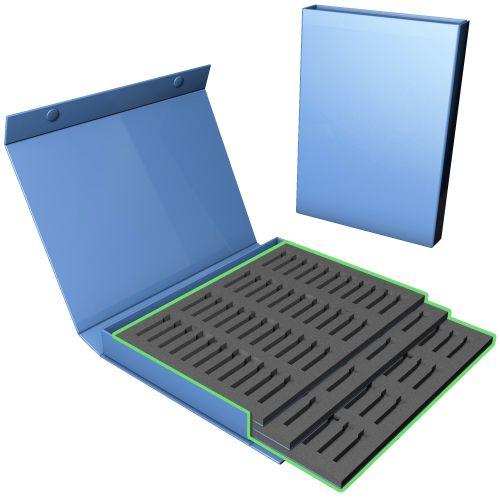 Box mit 1 Kastenteil, 3 Schaumeinlagen und Magnetverschluß