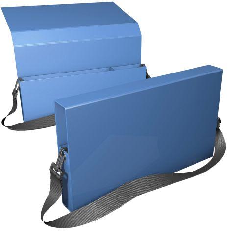 großer Ordnerkoffer mit  Tragegurt und Unterfächer