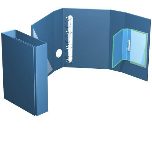 offene Ordnerbox,bis 35mm Füllhöhe,  mit intigriertem Kleinordner