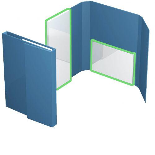 Ordnerbox mit Kartontaschen ohne Mechanik bis 40mm Füllhöhe