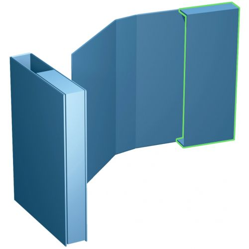 Ordner-Verpackungsbox 1/2, A4 bis 50 mm Füllhöhe