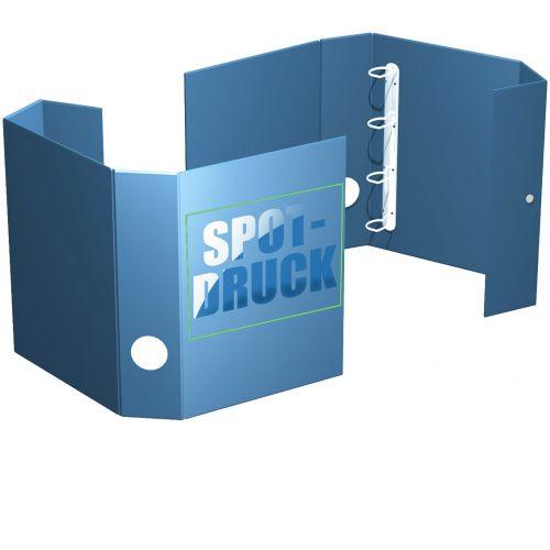 Ordnerbox, bis 45 mm Füllhöhe, mit Prägung, Spotlack oder Stanzung, offen