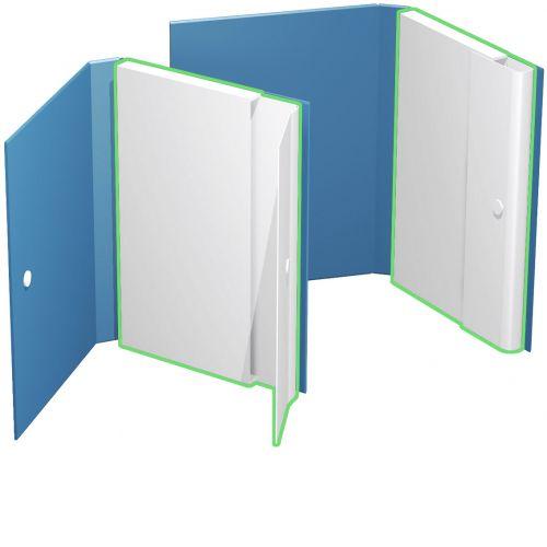 Ordnerbox mit geschlossener Kartontasche für losen Inhalt