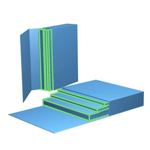 Schubladenbox mit 4 einzelnen Produktfächern