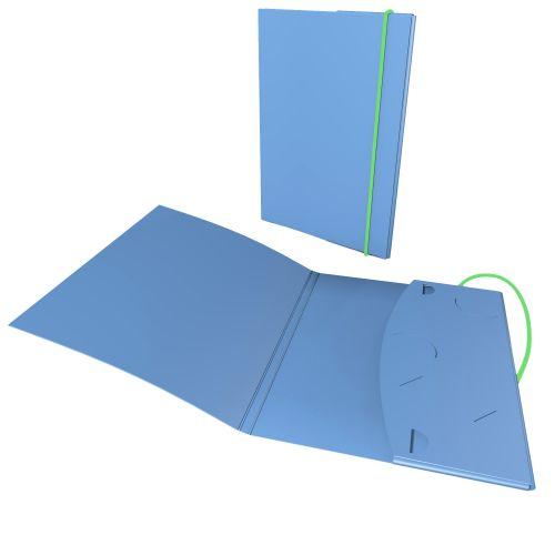 Mappen ausstarkem Karton, Taschenstanzungen und Gummibandverschluß