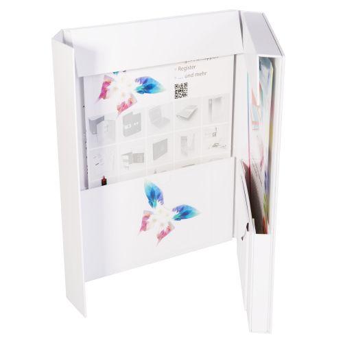 Ordnerbox mit zwei Kartontaschen oder transparente Taschen