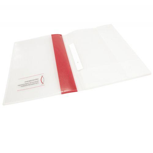 PP-Mappe mit Heftzunge und aufgeschweisster Tasche
