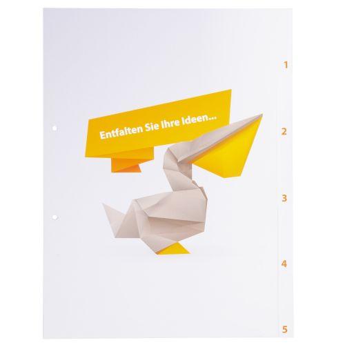 Trennblätter bedrucken - stilvoll und mit Botschaft