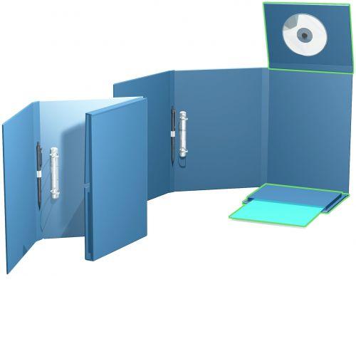 Ordnerbox in Metalloptik mit Multifunktionsklappen