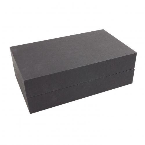 Stülpschachtel aus schwarzer Naturpappe