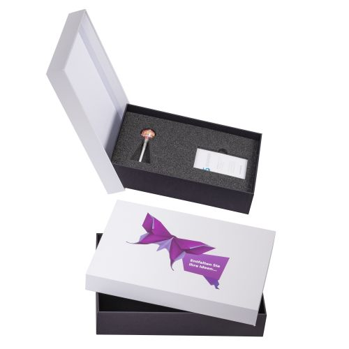 Stülpdeckelschachteln A4 307x220 Kasten bis 60, Deckel bis 30mm hoch, Aufteilung bis 90mm
