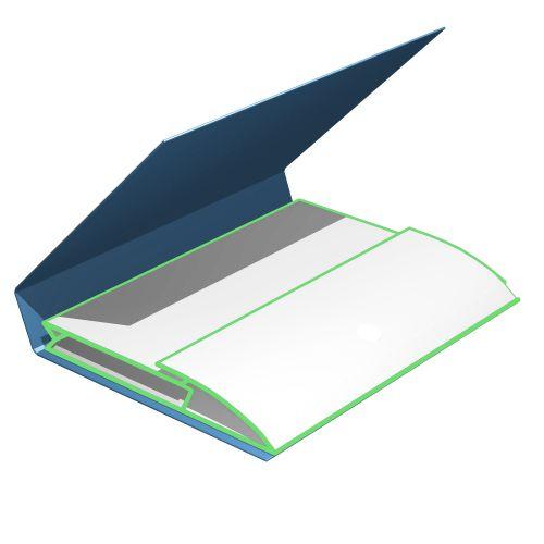 Ordnerdecke mit Kartontasche mit Füllhöhe